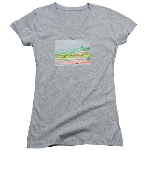 Wishing You Were Here Women's V-Neck (Athletic Fit)