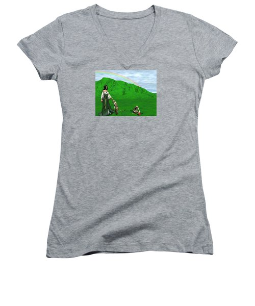 Year Of The Monkey Women's V-Neck T-Shirt
