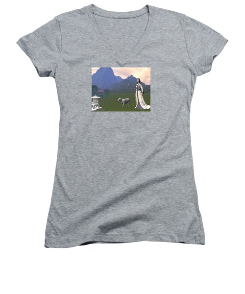 Year Of The Sheep Women's V-Neck (Athletic Fit)