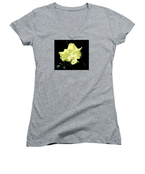 Yellow Beauty Women's V-Neck T-Shirt