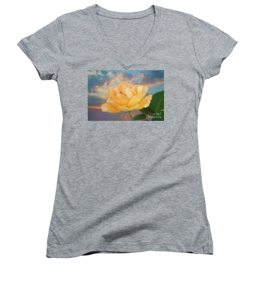 Yellow Rose Of Texas Women's V-Neck (Athletic Fit)