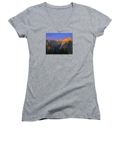 Yosemite Summer Sunset 2012 Women's V-Neck T-Shirt