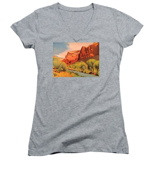 Zion Canyon Women's V-Neck
