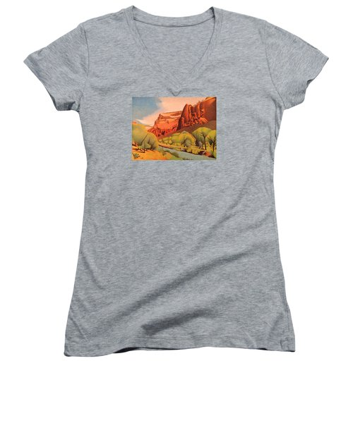 Zion Canyon Women's V-Neck (Athletic Fit)