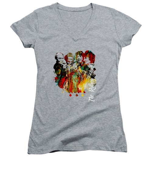 The Rolling Stones Collection Women's V-Neck (Athletic Fit)
