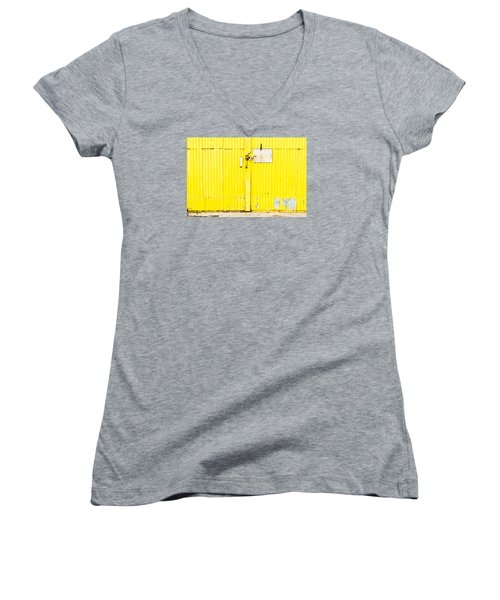 Yellow Metal  Women's V-Neck (Athletic Fit)