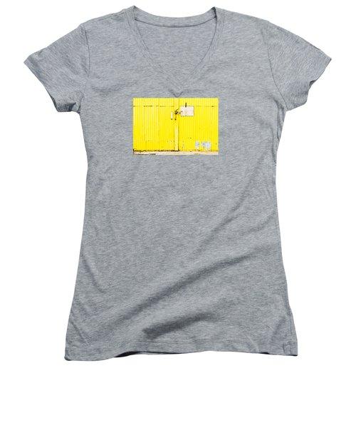 Yellow Metal  Women's V-Neck T-Shirt