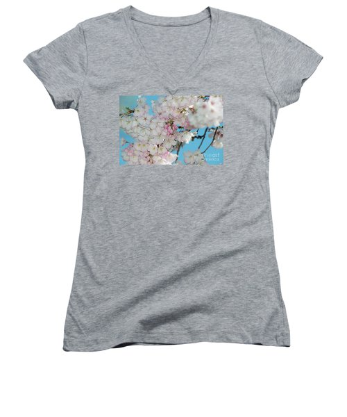 Silicon Valley Cherry Blossoms Women's V-Neck T-Shirt