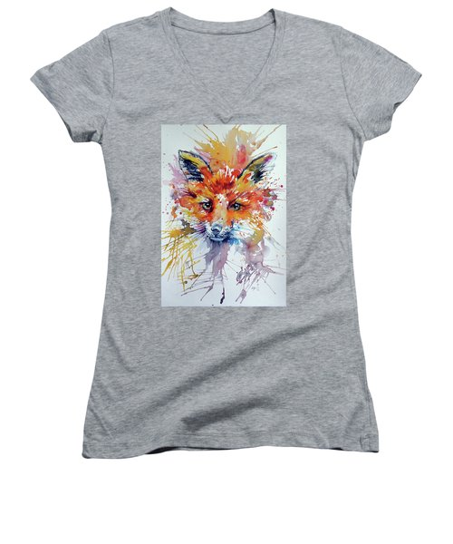 Red Fox Women's V-Neck T-Shirt (Junior Cut)