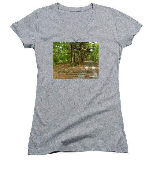 12- The Road Not Taken Women's V-Neck T-Shirt
