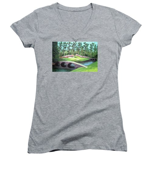 12th Hole At Augusta National Women's V-Neck