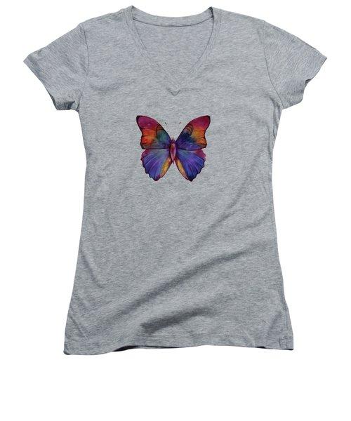 13 Narcissus Butterfly Women's V-Neck T-Shirt (Junior Cut)