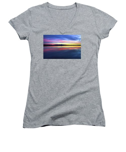Lake Winnipesaukee - Layers Women's V-Neck (Athletic Fit)