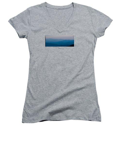 Panoramic Fine Art Prints Women's V-Neck T-Shirt (Junior Cut) by Kevin Blackburn