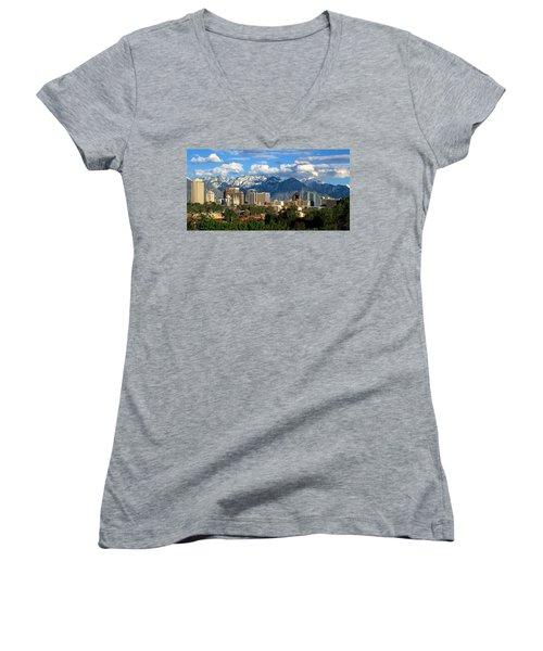 Salt Lake City Skyline Women's V-Neck