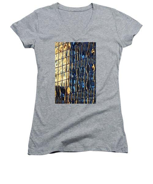 Abstract Reflection Women's V-Neck T-Shirt (Junior Cut)