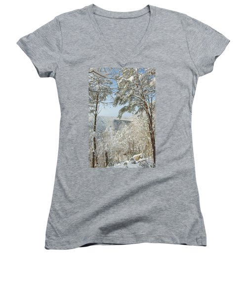 New River Gorge Bridge Women's V-Neck