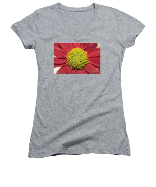 Red Flower Women's V-Neck T-Shirt