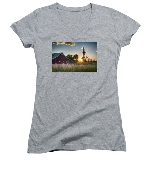 17 Mile House Farm - Sunset Women's V-Neck