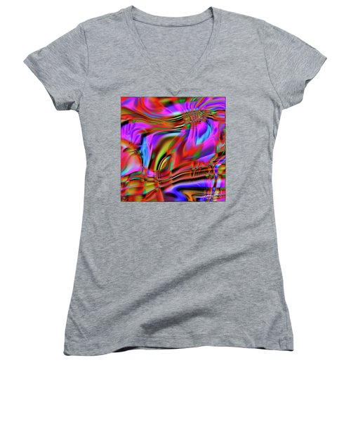 1783 Abstract Thought Women's V-Neck (Athletic Fit)