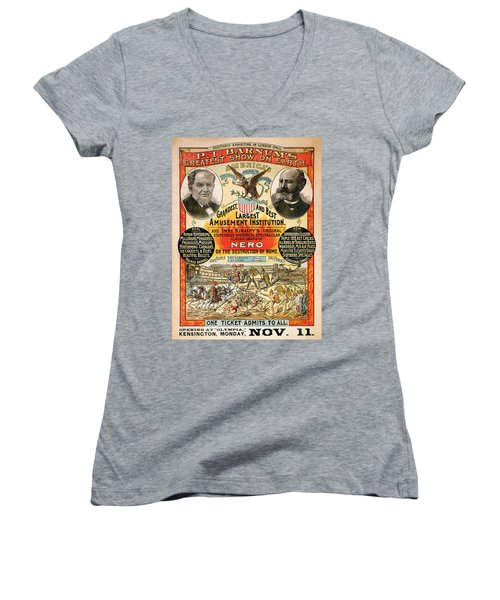 1890 - Circus Poster Women's V-Neck