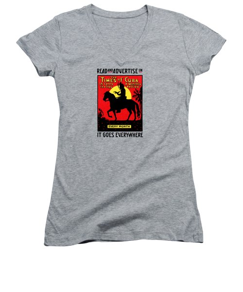 1920 The Times Of Cuba Women's V-Neck T-Shirt