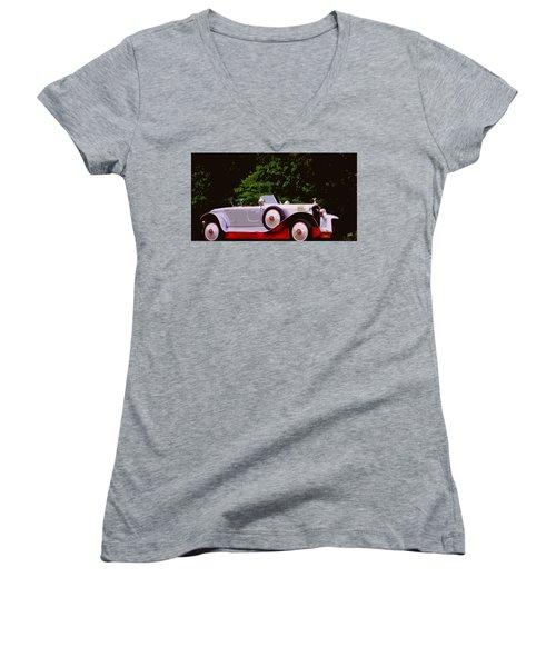 1921 Farman A6b Super Sport Torpedo Women's V-Neck T-Shirt