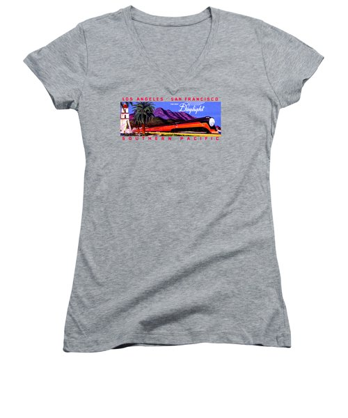 1922 Daylight Railroad Train Women's V-Neck (Athletic Fit)