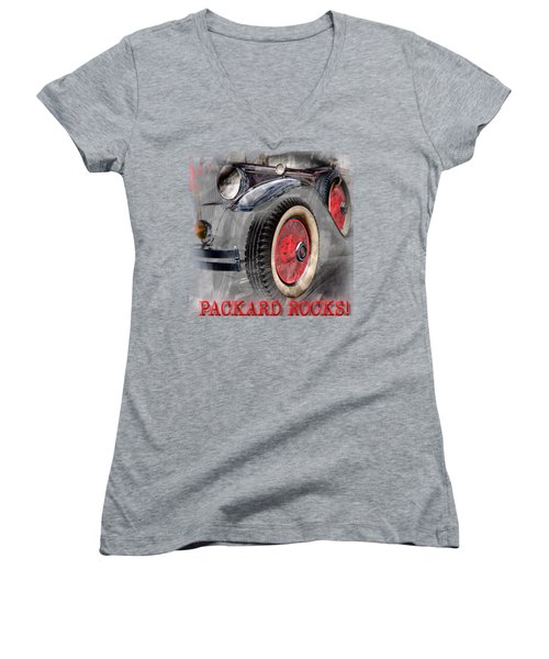 1930 Packard Women's V-Neck