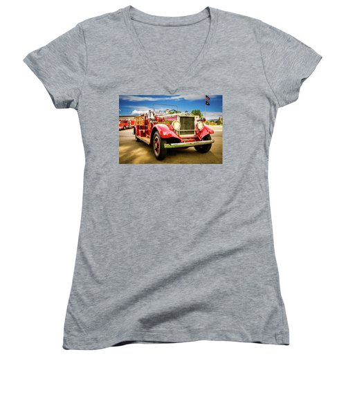 1931 Mack - Heber Valley Fire Dept. Women's V-Neck (Athletic Fit)