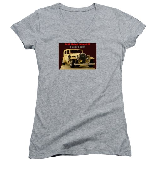 1932 Buick 4door Sedan Women's V-Neck T-Shirt