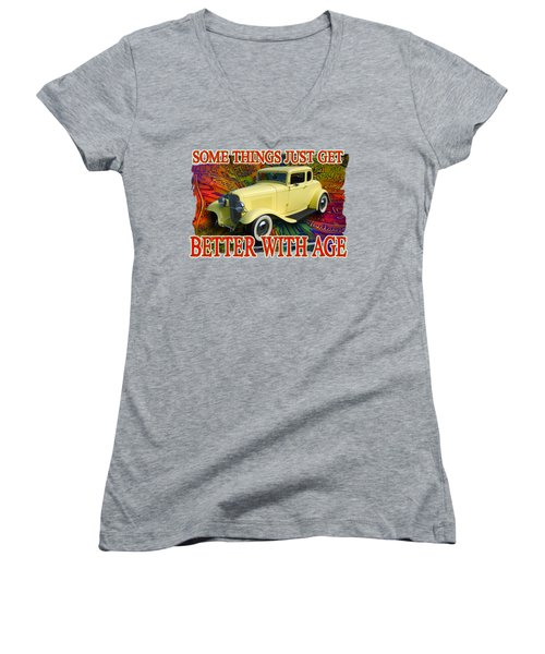 1932 Ford Coupe Women's V-Neck T-Shirt (Junior Cut) by Richard Farrington
