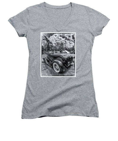 1932 Ford Deuce Roadster Hot Rod Women's V-Neck (Athletic Fit)