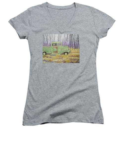 1932  Greenford Pickup Truck Women's V-Neck (Athletic Fit)