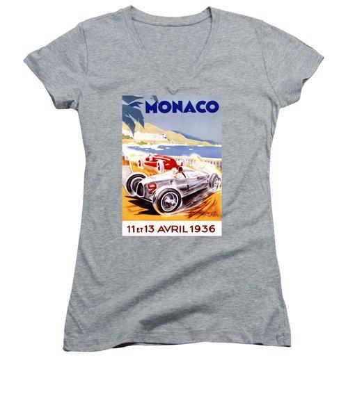 1936 F1 Monaco Grand Prix  Women's V-Neck