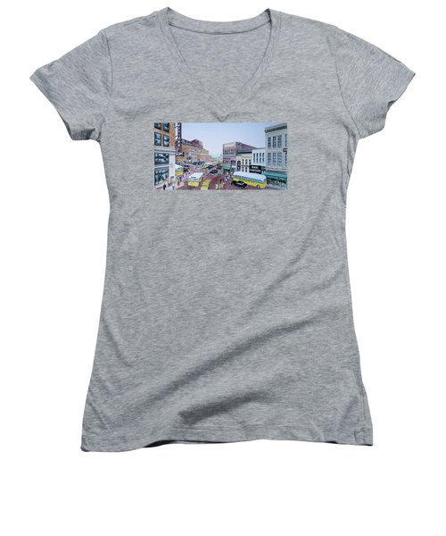 Rush Hour Portsmouth Ohio 1948 Women's V-Neck