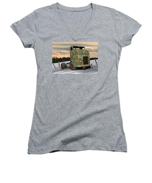 1951 Corbitt Women's V-Neck T-Shirt (Junior Cut) by Stuart Swartz