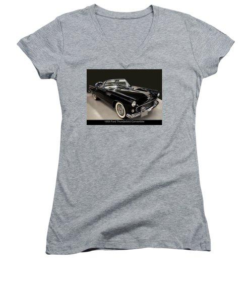 1955 Ford Thunderbird Convertible Women's V-Neck