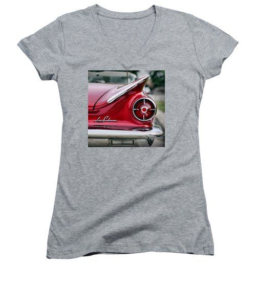 1960 Buick Lesabre Women's V-Neck T-Shirt (Junior Cut) by Gordon Dean II
