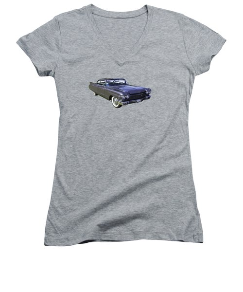 1960 Cadillac - Classic Luxury Car Women's V-Neck T-Shirt (Junior Cut) by Keith Webber Jr