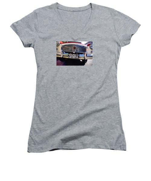 1961 Nash Metropolitan Women's V-Neck T-Shirt (Junior Cut) by John S