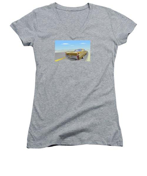1963 Cadillac De Ville Women's V-Neck T-Shirt