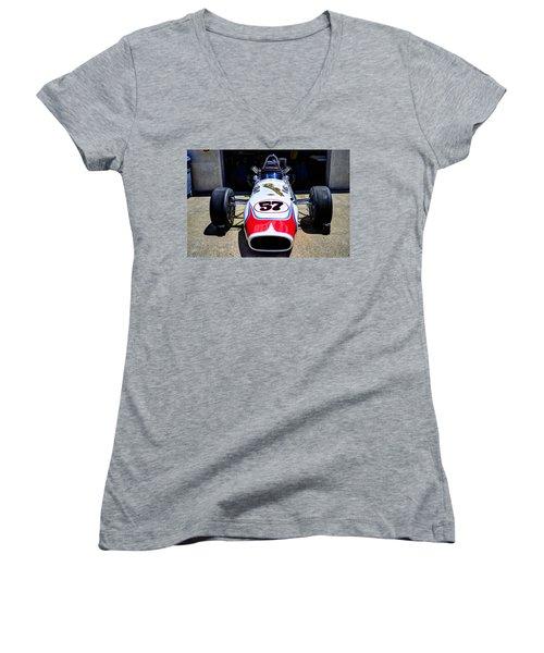 1966 Gearhardt Rear Engine V8 Women's V-Neck T-Shirt