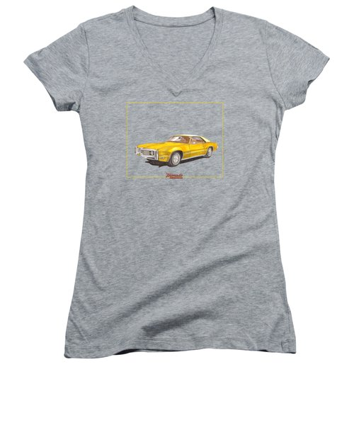 1970 Olds Toronado Terific Tee Shirt Women's V-Neck T-Shirt