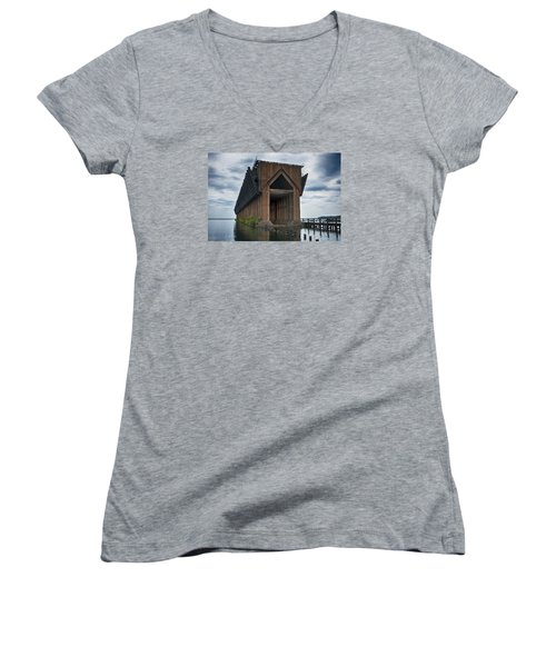 1971 Women's V-Neck T-Shirt (Junior Cut) by Dan Hefle