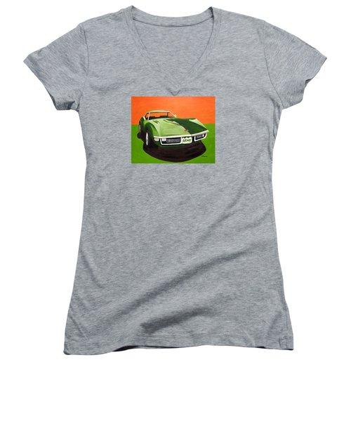 1971stingray-army Women's V-Neck T-Shirt