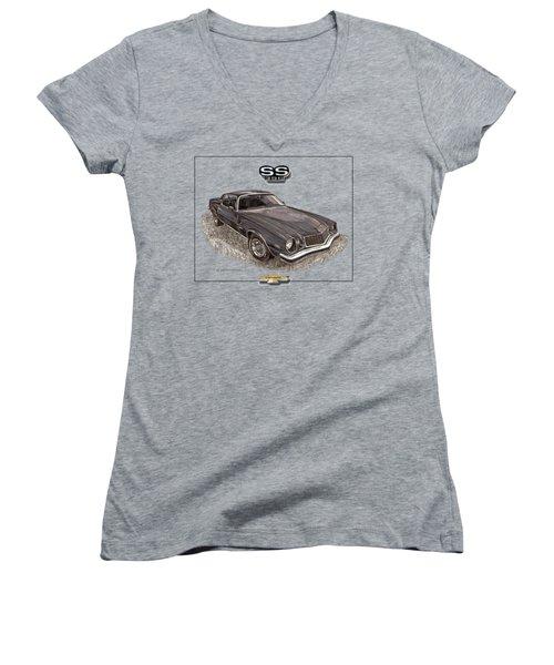 1976 Camaro S S 396 Tee Shirt Women's V-Neck T-Shirt