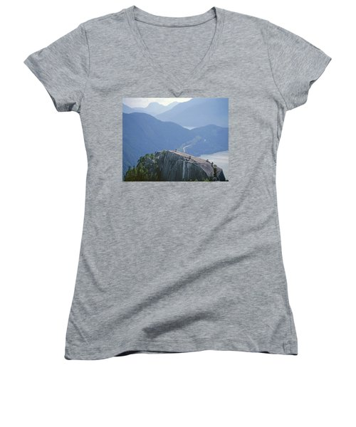 1m2918 South Summit Stawamus Chief From Second Summit Women's V-Neck