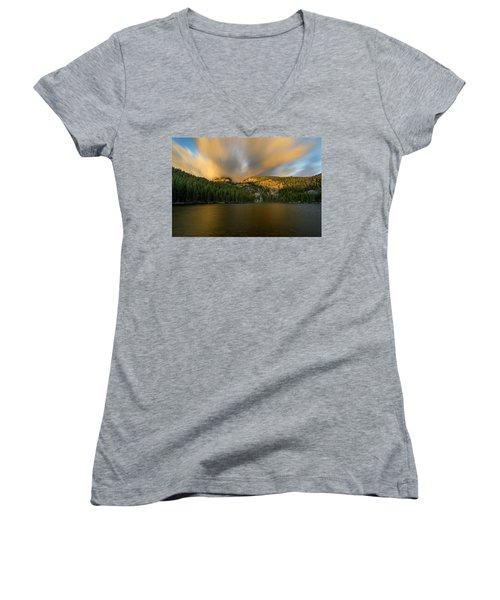 2 / 51  Bear Lake's Hallett Peak #2 Women's V-Neck T-Shirt