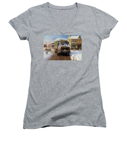 Aec Tinfront Women's V-Neck T-Shirt (Junior Cut) by Mike  Jeffries